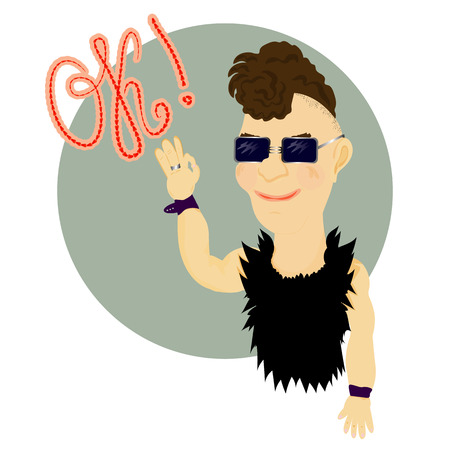 Punk said OK illustration Subculture. Good mood