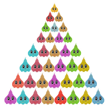 meringue: Multi-colored meringue. Lovely image. Illustration of a game character Illustration