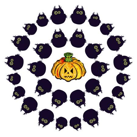 31: Postcard Happy Halloween, 31 October illustration