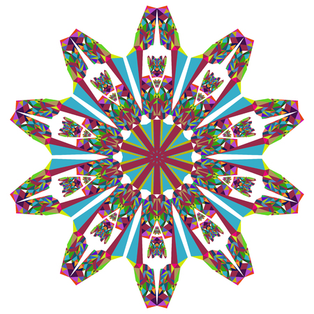 symmetrical: Symmetrical pattern of brightly colored elements