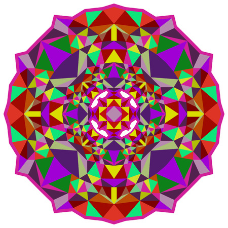 brightly: Symmetrical pattern of brightly colored elements