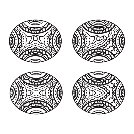 symmetrical: Symmetrical image for coloring. Hobbies and recreation.