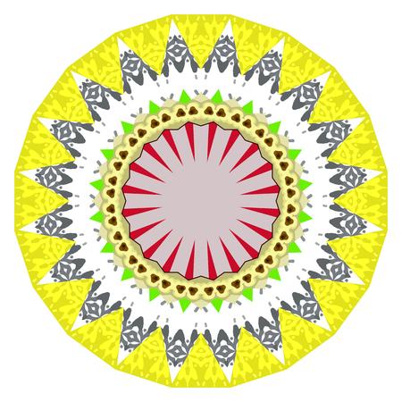 oriental vector: Flower Mandalas. Vintage decorative elements. Oriental pattern, vector illustration. Hand drawn background. Islam, Arabic, Indian ottoman motifs Illustration