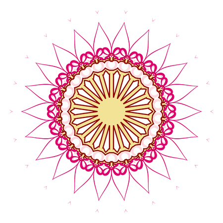 Flower Mandalas. Vintage decorative elements. Oriental pattern, vector illustration. Hand drawn background. Islam, Arabic, Indian ottoman motifs Illustration