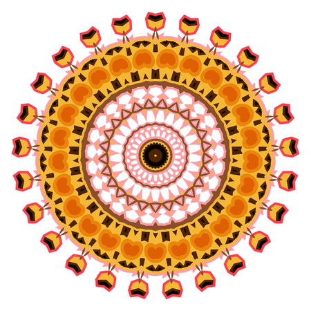 Colorful kaleidoscope pattern. Decorative ornament. Geometric design element. Illustration