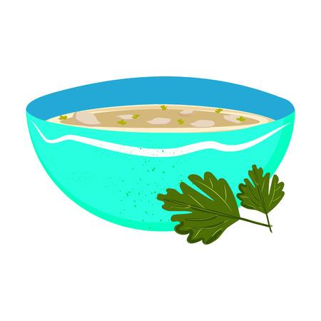 Flat design icon of Xavier soup
