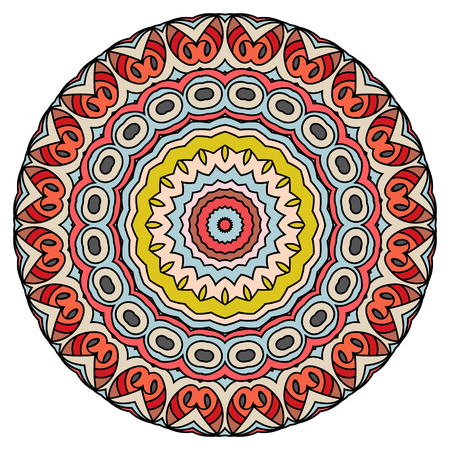 Oriental mandala, coloring mandala. Islam, Arabic, Indian, turkish, pakistan, chinese, ottoman motifs. Vector arabesque illustration.