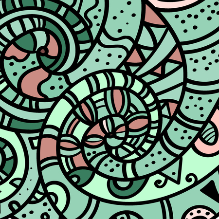 Zen art sand swirl pattern background. Hand drawn colored picture. Abstract wave multicolor design. Fascinating texture. - Vector graphics.