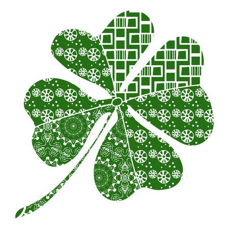 Clover good luck. St. Patricks Day symbol. - Vector.