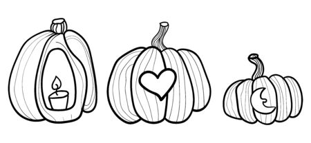 Big orange pumpkin. Pumpkin and halloween. Coloring page adult and kids. Banner for holiday. Accessory for comfort. Season is winter or fall. Warmth and comfort.