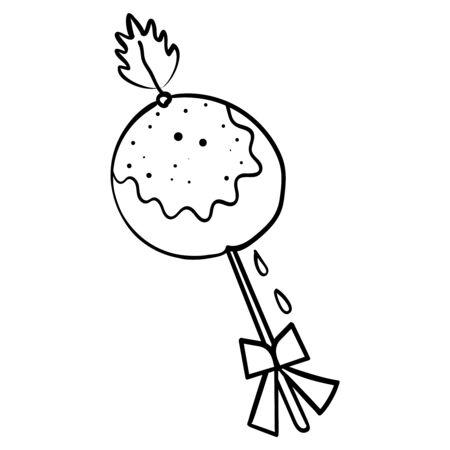 Lutscher. Malseite oder Buch, Antistress, Hobby. Süßer Lutscher auf weißer Hintergrundillustration - Vektor. Vektor-Illustration