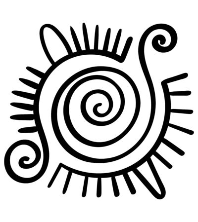 Traditional symbol Mayan culture native. The ethnic pattern of American Indians, Aztecs. Ethnic style Aztec and mexican patterns