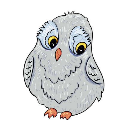 Cute owl design. Bird illustration, Vector illustration for children. Illusztráció