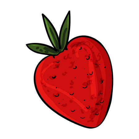 Fresh red strawberries images. Vector clip art illustration. 向量圖像