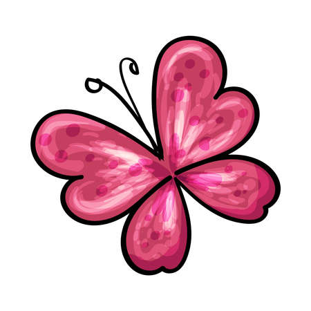 Cute Butterfly Hand drawn vector illustration for any design