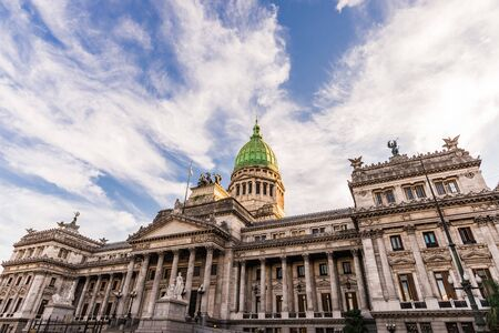 Building of the National Congress of Argentina in Buenos Aires Stock Photo