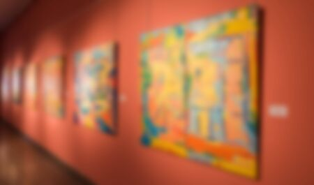 Blurred background. Art exposition exhibition and museum concept.