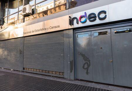 Buenos Aires, Argentina - December 23, 2017: INDEC, Statistics Institute