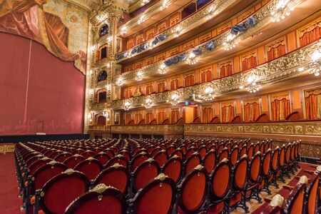 Buenos Aires, Argentina - February 1, 2018: Insides of the Teatro Colon theater Foto de archivo - 139045953