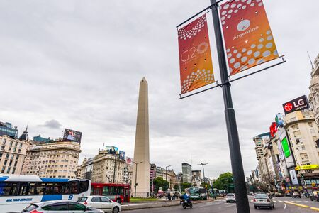 Buenos Aires, Argentina - November 25, 2018: City before G20 summit