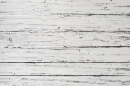 Vintage retro rustic white wood background backdrop with old texture