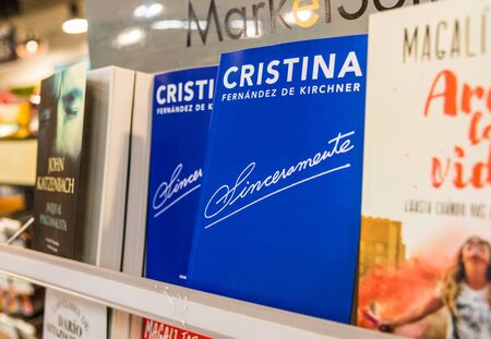 Buenos Aires, Argentina - May 26, 2019: Sinceramente, book by Cristina Kirchner