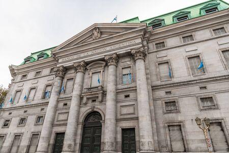 Buenos Aires, Argentina - May 25, 2019: Building of Banco de La Nacion
