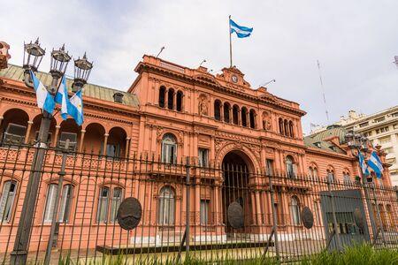 Buenos Aires, Argentina - May 25, 2019: Casa Rosada presidential palace