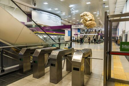 Buenos Aires, Argentina - June 22, 2019: Newly built subway subte station Retiro Editorial