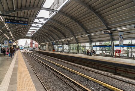 Buenos Aires, Argentina - June 22, 2019: Newly built train station Belgrano C