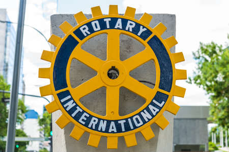Vicente Lopez, Argentina - December 21, 2019: Logo of Rotary International