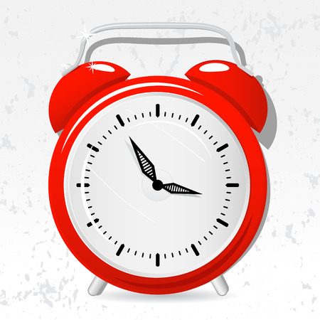 Red de dibujos animados reloj de alarma, vector