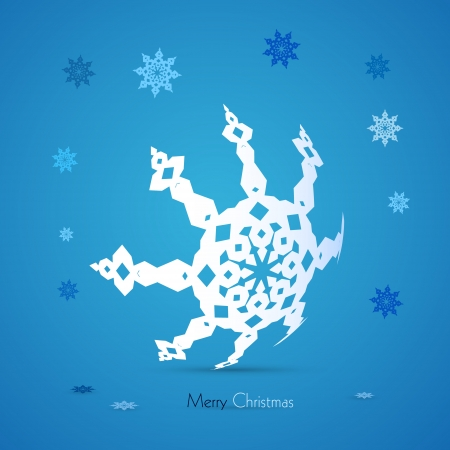 starr: Blue Vector Merry Christmas Background Illustration
