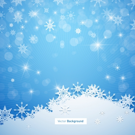 Blue Vector Merry Christmas Background Ilustrace
