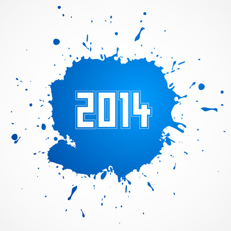 last day: Vector Happy New Year Background, Blue Stain Illustration