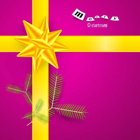 starr: Pink and Yellow Abstract Vector Merry Christmas Background