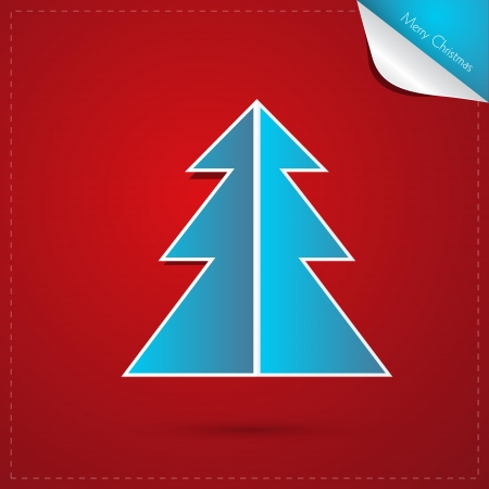 starr: Red, Blue Abstract Vector Merry Christmas Background