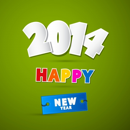 january 1st: Vector Happy New Year Background Illustration