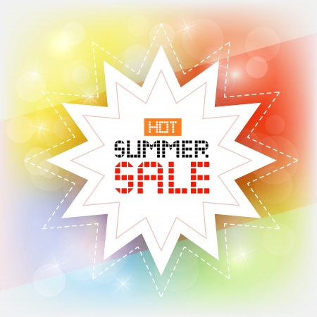 starr: Hot summer sale vector image