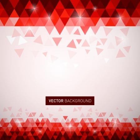 赤い三角形のベクトルの背景