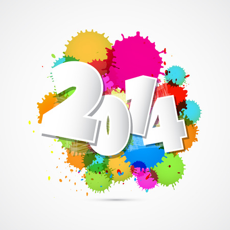 Vector Happy New Year Background Ilustrace
