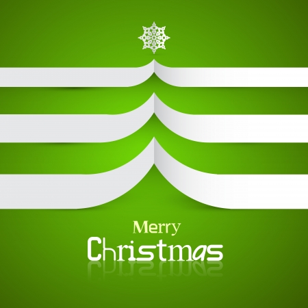 starr: Green Abstract Vector Merry Christmas Background
