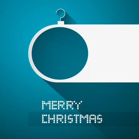 starr: Blue Abstract Vector Merry Christmas Background