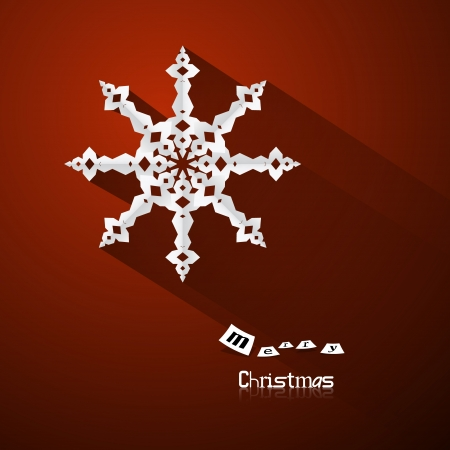 Red Abstract Vector Merry Christmas Background Vector