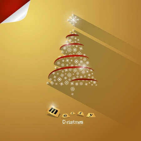 Gold Abstract Vector Merry Christmas Background Vector