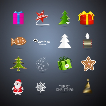starr: Vector Christmas Icons Illustration