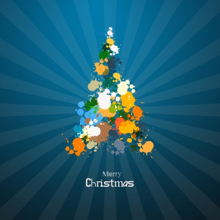 Abstract Vector Merry Christmas Background Vector