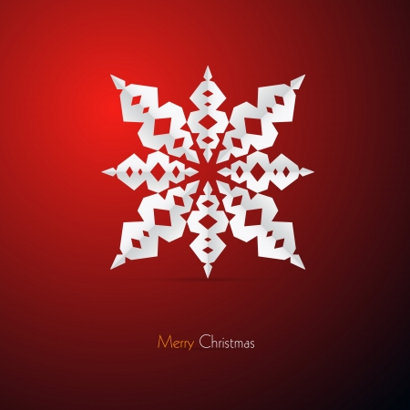 starr: Red Abstract Vector Merry Christmas Background