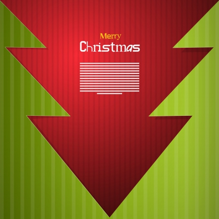 starr: Red and Green Abstract Vector Merry Christmas Background