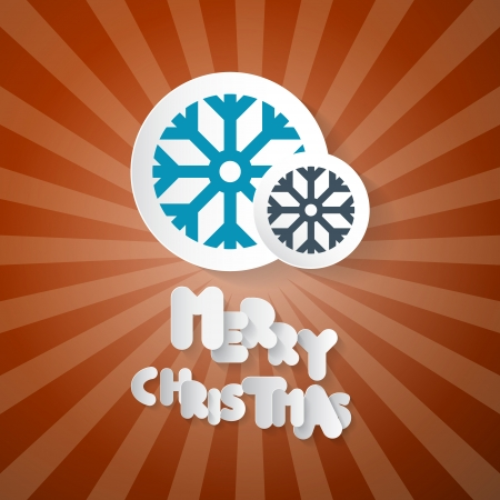 starr: Retro Abstract Vector Merry Christmas Background Illustration